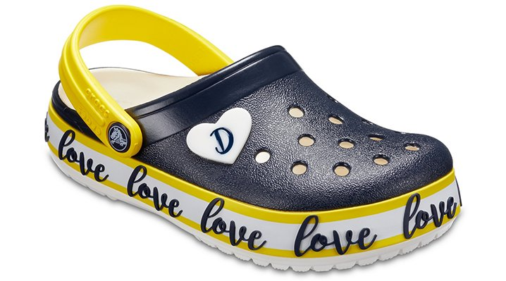 Crocs Navy / White Kids' Drew Barrymore Crocs Crocband™ Clogs Shoes