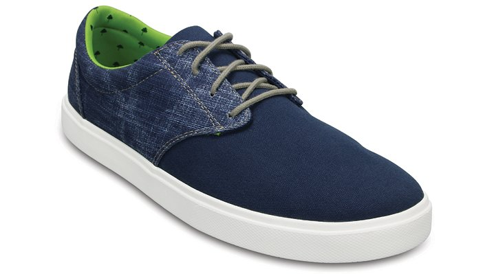 Crocs Navy / White Men's Citilane Canvas Lace Shoes