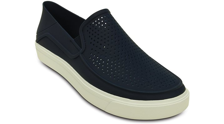 Crocs Navy / White Men's Citilane Roka Slip-Ons Shoes