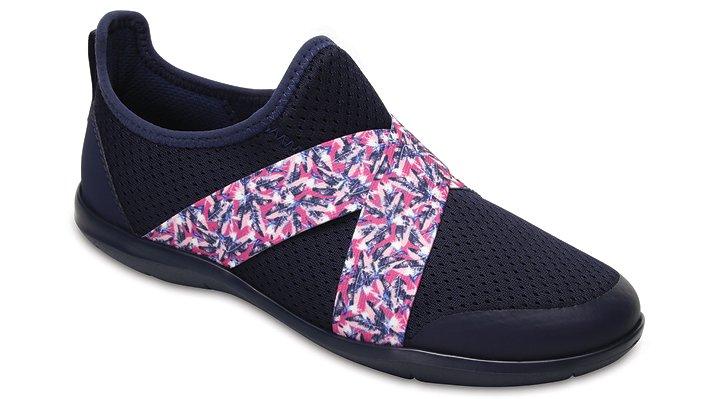 Crocs Navy/Blue Jean Women's Swiftwater Cross-Strap Shoes