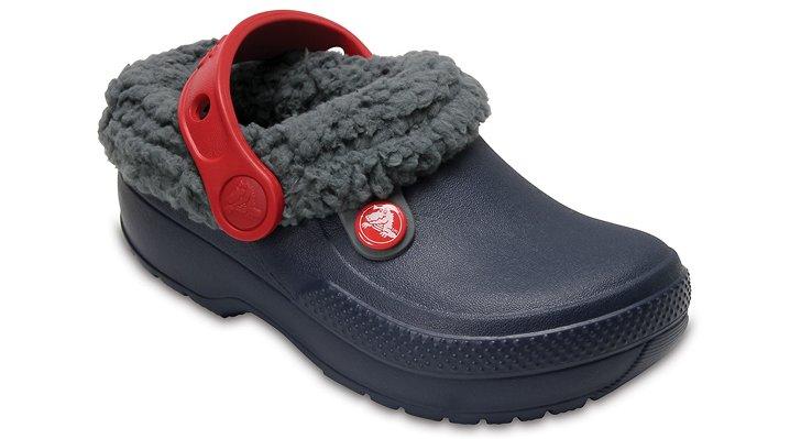 Crocs Navy/Slate Grey Kids' Classic Blitzen Iii Clog Shoes