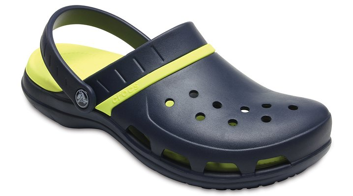 Crocs Navy/Tennis Ball Green Modi Sport Clogs Shoes