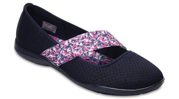 Crocs Navy/Tropical Women's Swiftwater Flat Shoes