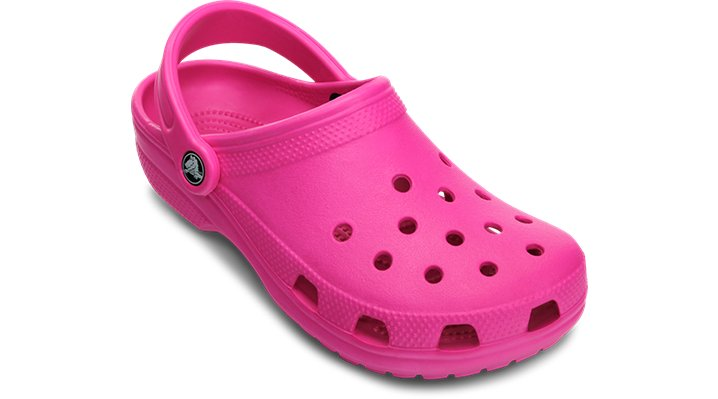 Crocs Neon Magenta Classic Clog Shoes
