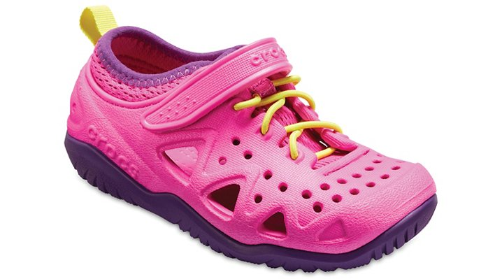 Crocs Neon Magenta Kids' Swiftwater Play Shoes Shoes