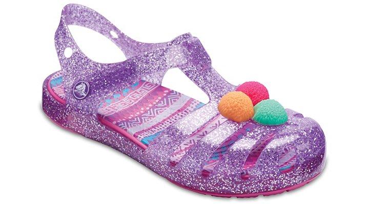 Crocs Neon Purple Kids' Crocs Isabella Novelty Sandal Shoes 205038518
