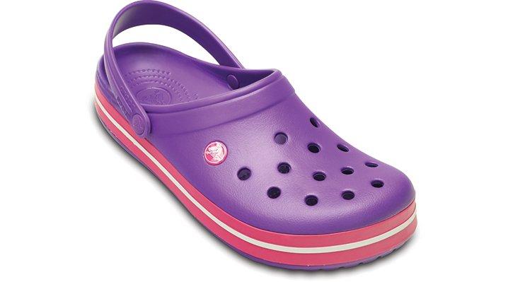 Crocs Neon Purple / Candy Pink Crocband Comfortable Clogs