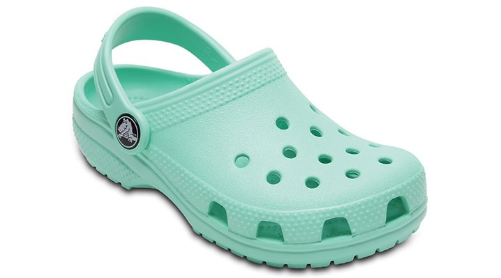 Crocs New Mint Kids' Classic Clog Shoes