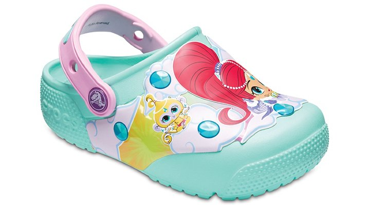 Crocs New Mint Kids' Crocs Fun Lab Shimmer & Shine™ Lights Clogs Shoes
