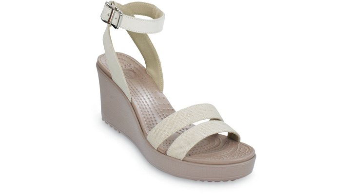 Crocs Oat / Mushroom Women's Leigh Wedge Shoes