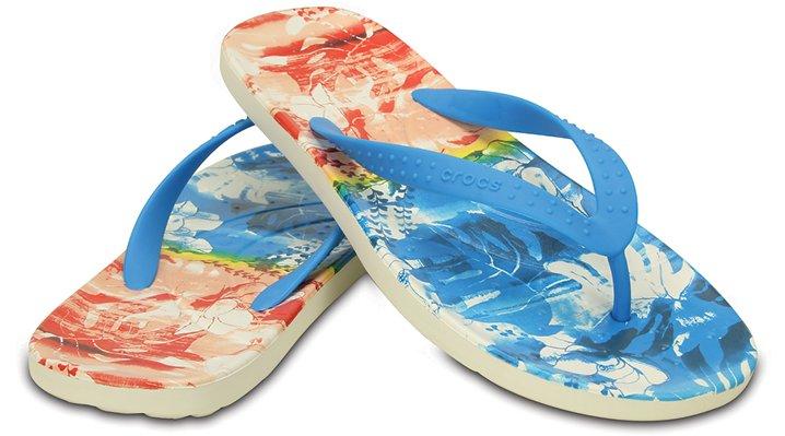 Crocs Ocean Chawaii Tropical Ii Flip Shoes