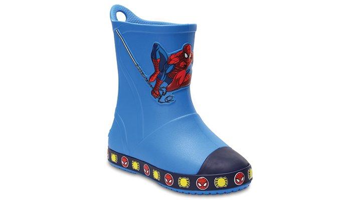 Crocs Ocean Crocs Bump It Spiderman™ Rain Boot Shoes