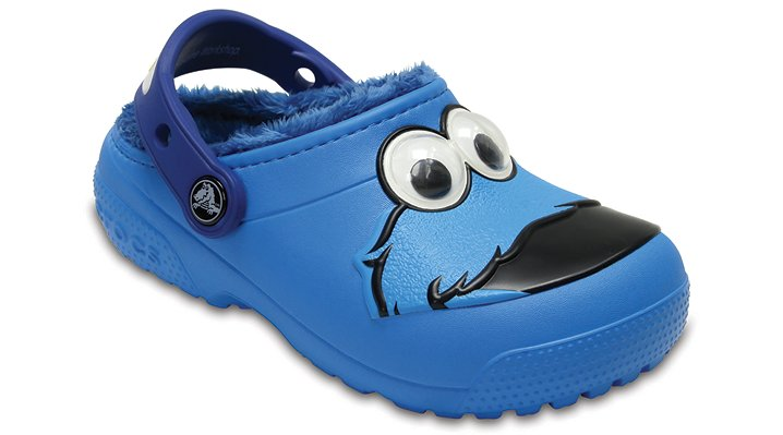 Crocs Ocean Crocs Fun Lab Fuzz Lined Cookie Monster™ Clog Shoes
