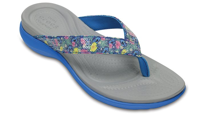 Crocs Ocean Women's Capri V Graphic Sequin Flip Shoes
