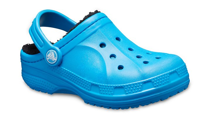 Crocs Ocean / Black Kids' Ralen Fuzz Lined Clog Shoes