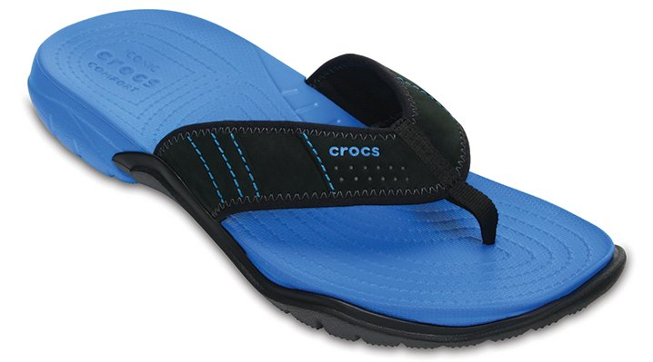 Crocs Ocean / Black Men'S Swiftwater Flip Shoes