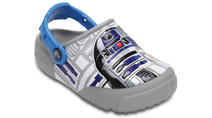 Crocs Ocean / Light Grey Crocs Fun Lab Lights R2-D2™ Clogs Shoes