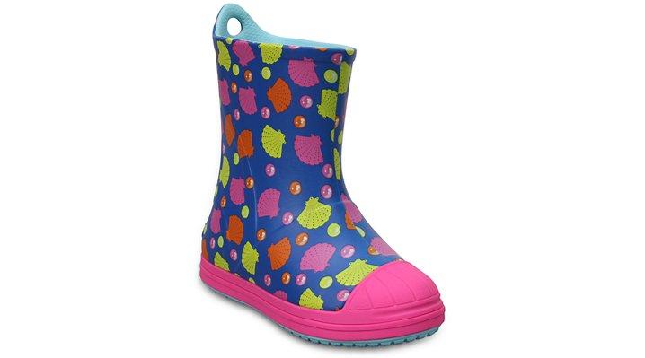 Crocs Ocean / Multi Kids' Crocs Bump It Graphic Rain Boot Shoes