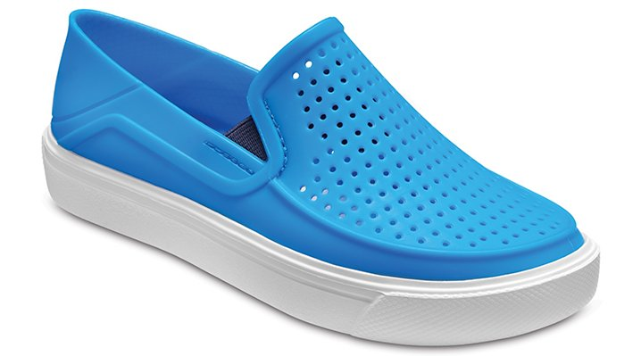 Crocs Ocean / White Kids' Citilane Roka Slip-On Shoes