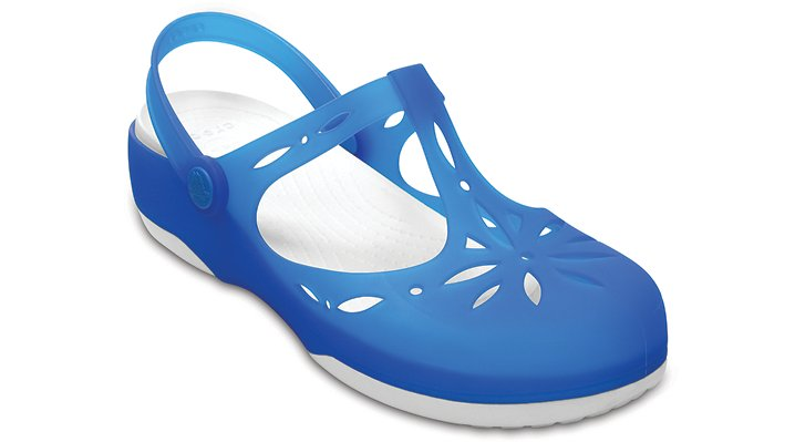 Crocs Ocean / White Women'S Crocs Carlie Cut Out Clog Shoes