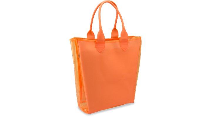 Crocs Orange (Coral) Translucent Tote Shoes
