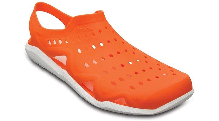 Crocs Orange / White Men's Swiftwater Wave Shoes