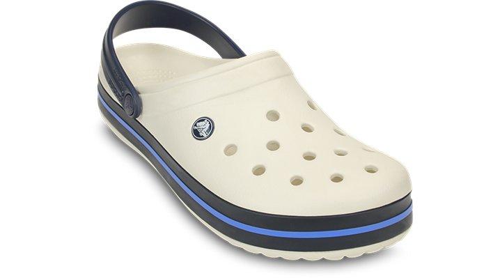 Crocs Oyster / Navy Crocband™ Clog Shoes