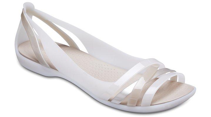 Crocs Oyster/Cobblestone Women's Crocs Isabella Huarache Ii Flats Shoes