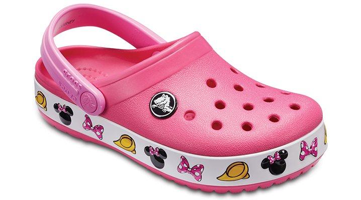 Crocs Paradise Pink Kids' Crocband™ Minnie™ Clogs Shoes