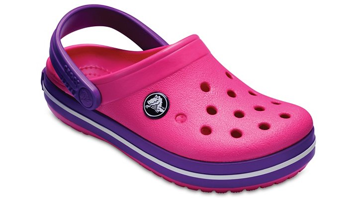 Crocs Paradise Pink/Amethyst Kids' Crocband™ Clog Shoes