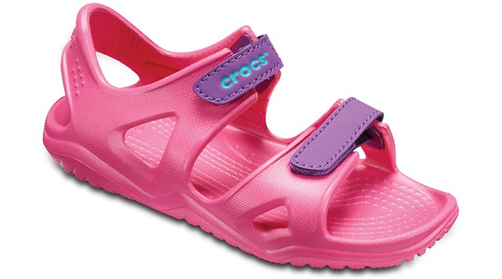 Crocs Paradise Pink/Amethyst Kids' Swiftwater River Sandals Shoes