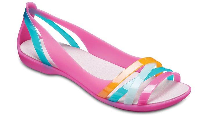 Crocs Paradise Pink/Rose Dust Women's Crocs Isabella Huarache Ii Flats Shoes