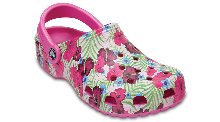 Crocs Party Pink Classic Graphic Clog Shoes