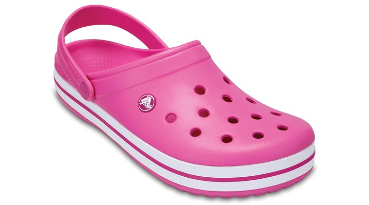 Crocs Party Pink Crocband™ Clog Shoes