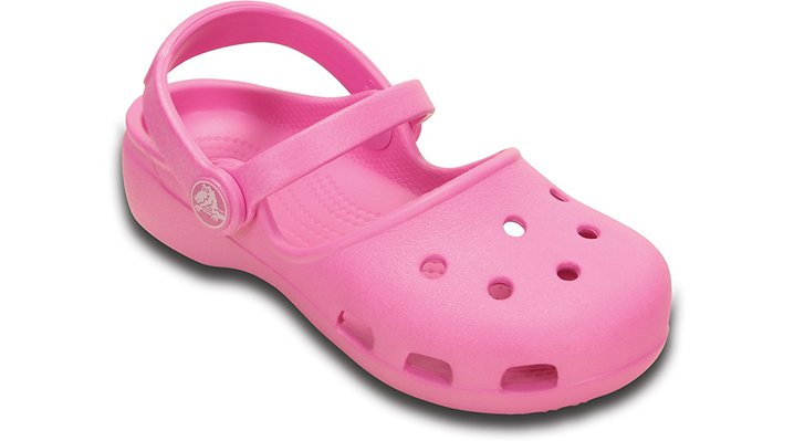 Crocs Party Pink Girls' Crocs Karin Clog Shoes