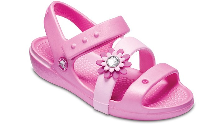 Crocs Party Pink Girls' Keeley Petal Charm Sandal (Children'S) Shoes