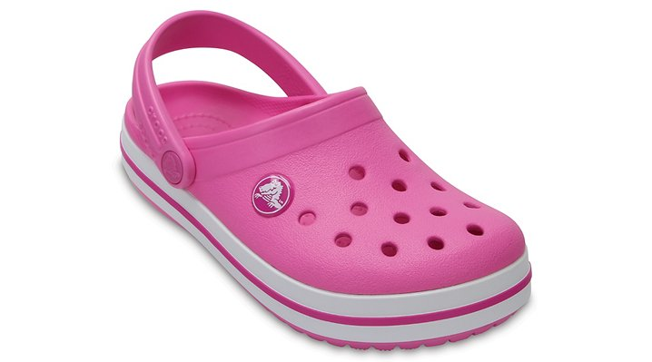 Crocs Party Pink Kids' Crocband™ Clog Shoes
