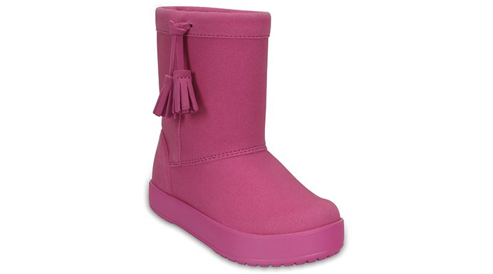 Crocs Party Pink Kids' Lodgepoint Boot Shoes