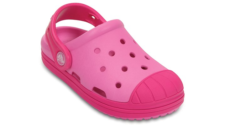 Crocs Party Pink / Candy Pink Kids' Crocs Bump It Clog Shoes