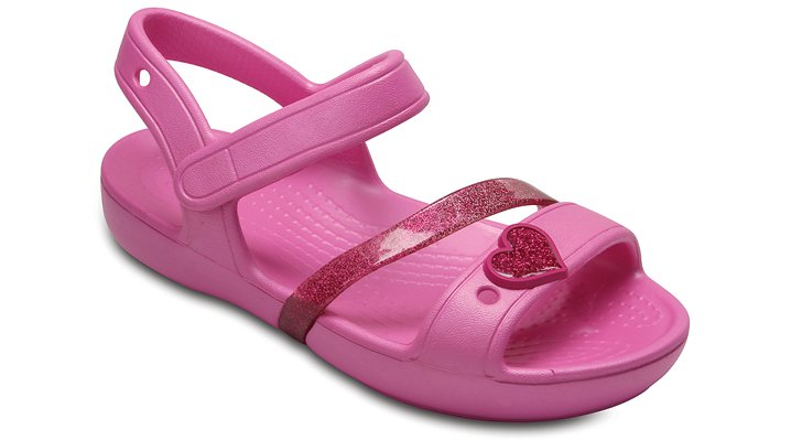 Crocs Party Pink / Candy Pink Kids' Crocs Lina Sandal Shoes