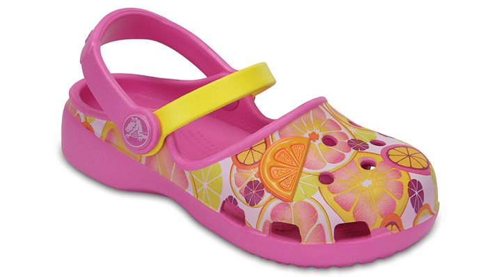 Crocs Party Pink / Lemon Kids' Crocs Karin Novelty Clogs Shoes