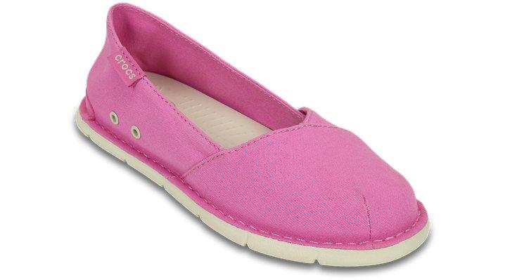 Crocs Party Pink / Stucco Girls' Crocs Cabo Slip-On (Juniors') Shoes