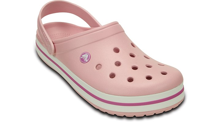 Crocs Pearl Pink / Wild Orchid Crocband Comfortable Clogs