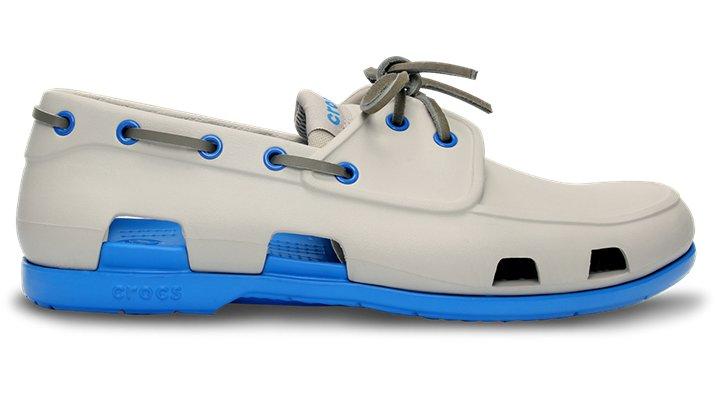 c7b304729f3 Crocs Pearl White / Ocean Men's Beach Line Boat Shoe Men's Boat Shoes