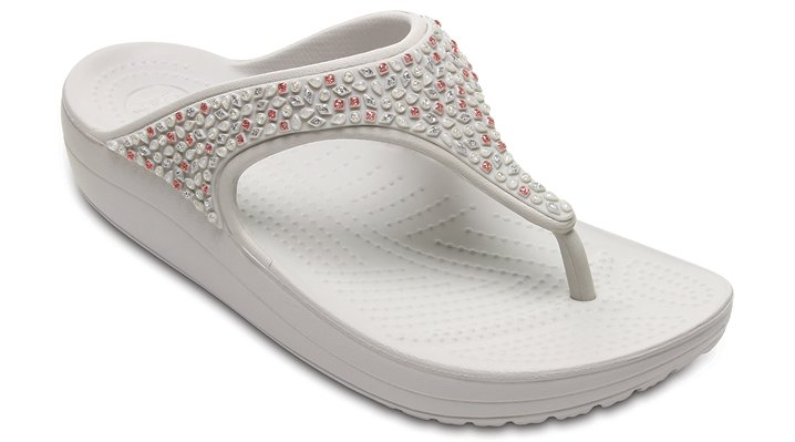 Crocs Pearl Women's Crocs Sloane Embellished Flip Shoes