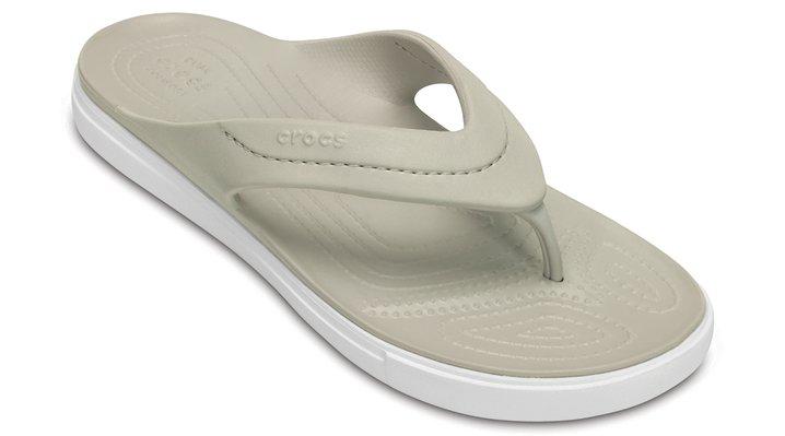 Crocs Pearl / White Citilane Flip Shoes