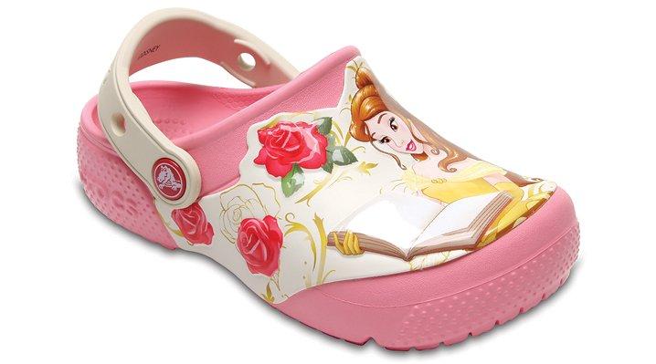 Crocs Peony Pink Kids' Crocs Fun Lab Princess Belle™ Clog Shoes