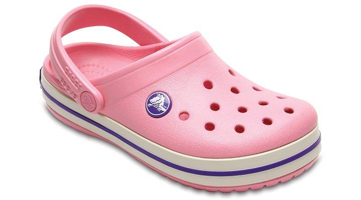 Crocs Peony Pink/Stucco Kids' Crocband™ Clog Shoes