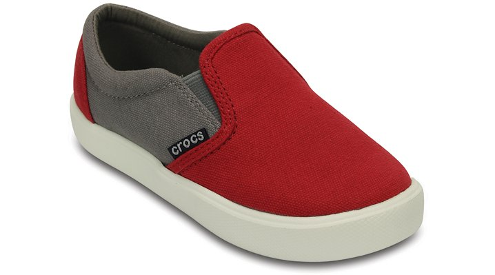 Crocs Pepper / Smoke Kids' Citilane Slip-On Sneaker Shoes