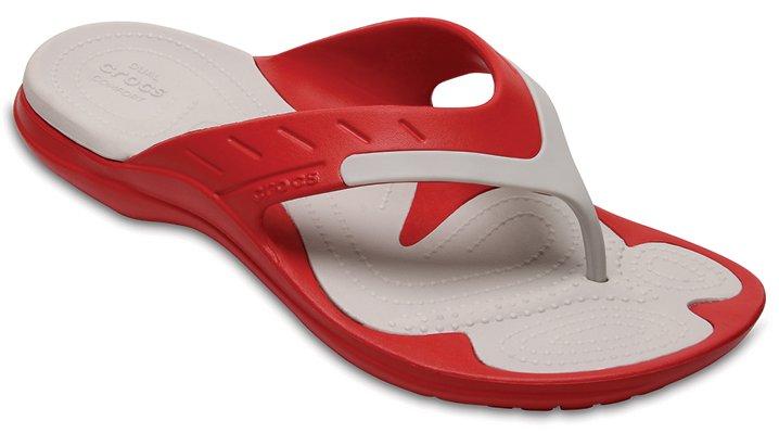 Crocs Pepper/Pearl White Modi Sport Flip Shoes